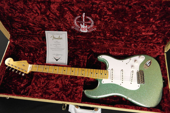 Fender Custom Shop 1954 Heavy Relic Stratocaster - SEAFOAM SPARKLE RARE ONE OFF COLOUR