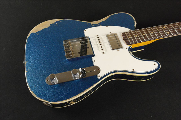 Fender Custom Shop '60's Telecaster Custom Heavy Relic - Blue Sparkle (953)