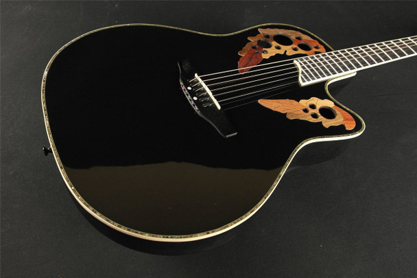 Ovation Celebrity Deluxe CC44-5 Acoustic-electric Guitar -  Black (298)