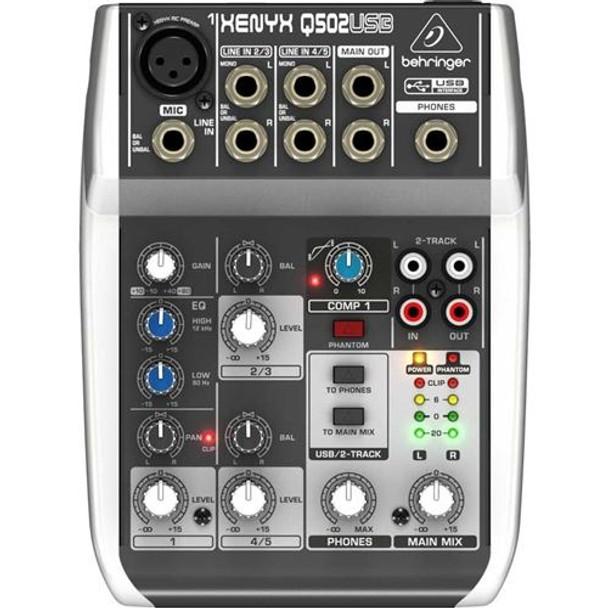 Behringer Premium 5-Input 2-Bus Mixer  - Q502USB