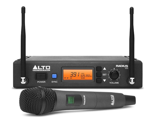 Alto Radius 100 Professional UHF Diversity Wireless Microphone System -RADIUS100XUS