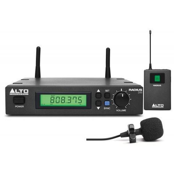 Alto RADIUS200LXUS Radius 200L Professional UHF True Diversity Wireless Lavalier Microphone System -RADIUS200LXUS