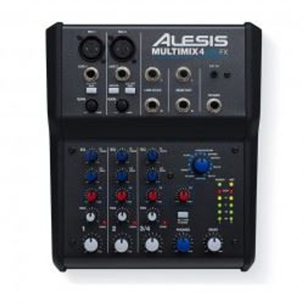 Alesis MultiMix 4 USB FX 4-Channel Mixer with Effects Plus USB Audio Interface -MULTIMIX4USBFXXUS