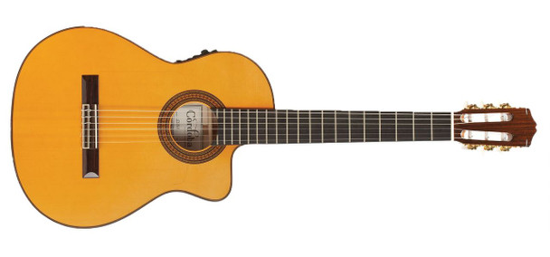 Cordoba Espana Series 55FCE Honey Amber Electric Acoustic Nylon String Guitar