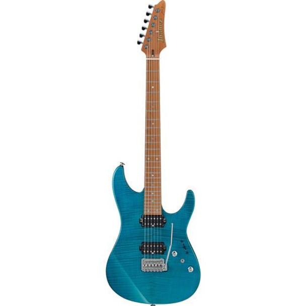 Ibanez MM1TAB Martin Miller Signature 6str Electric Guitar w/Case - Transparent Aqua Blue