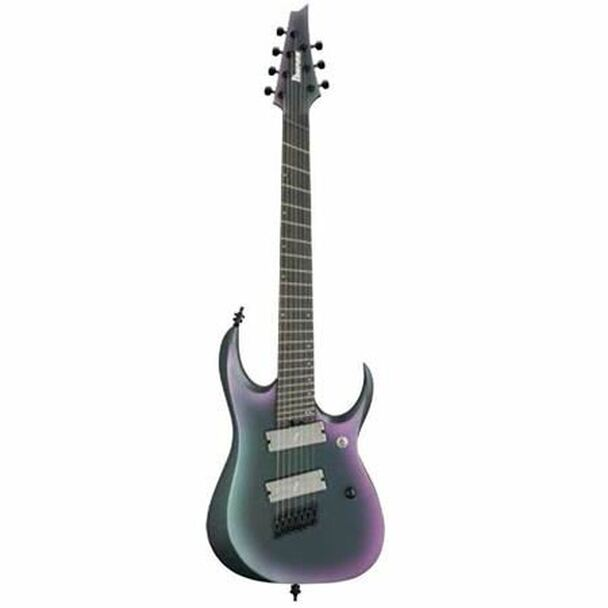 Ibanez RGD71ALMSBAM RGD Axion Label Multi Scale 7str Electric Guitar - Black Aurora Burst Matte