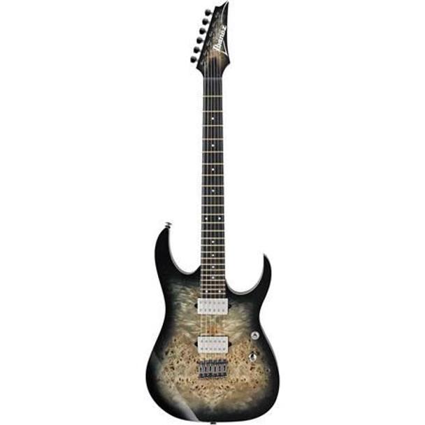 Ibanez RG1121PBCKB RG Premium 6str Electric Guitar w/Bag - Charcoal Black Burst