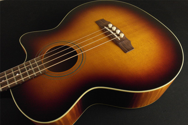 Guild Standard Series Acoustic Bass B-54CE Standard, Sitka Spruce/Maple Jumbo Cutaway Electric Bass, Fishman Matrix Infinity, Antique Burst, with Deluxe Case R