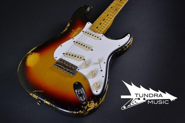 Fender Custom Shop 1969 Stratocaster Reverse Peg Heavy Relic - Aged 3-Tone Sunburst