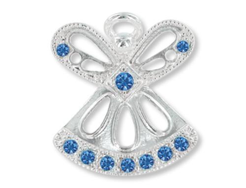 September Birthstone Angel Pin