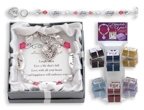 Live Love Laugh Expression Boxed Bracelet