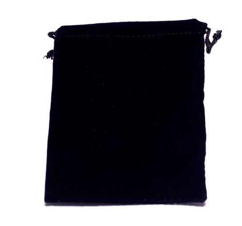 Drawstring Pouch : Black Velvet 3x3