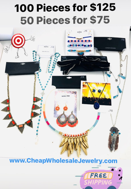 Target Store Jewelry Lot - 50 Piece