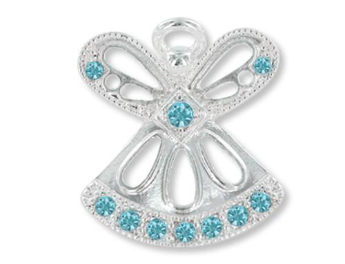 March Birthstone Angel Pin