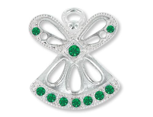 May Birthstone Angel Pin