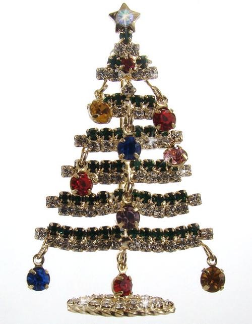 Star Bright Christmas Tree Pin