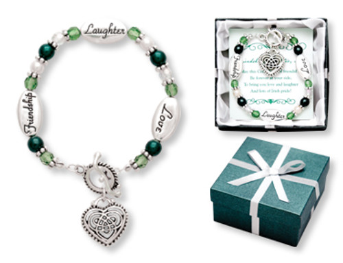 Friendship Laughter Love Irish Expression Bracelet