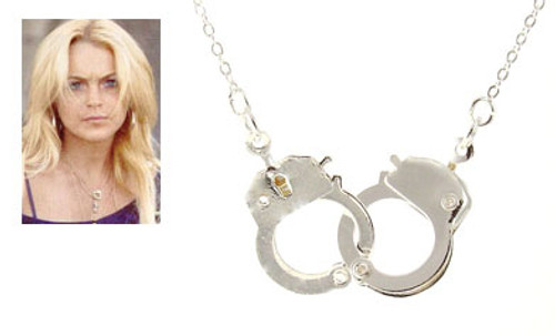 Lindsay Lohan Handcuff Necklace