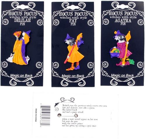 Hocus Pocus Witch Poem Pins