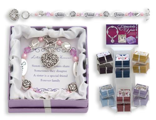 Sister Friend Forever Expression Boxed Bracelet