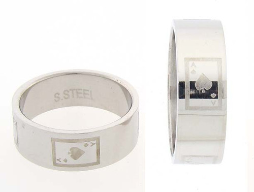 Stainless Steel Ace Ring