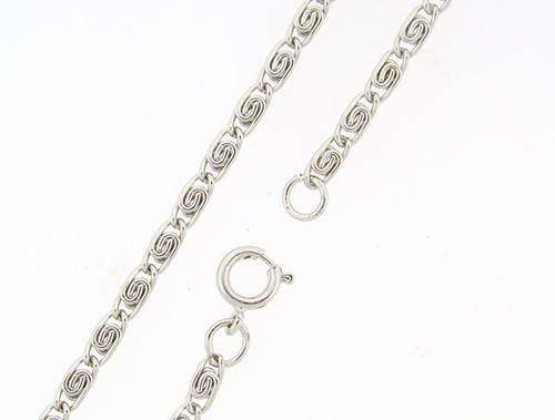 Scroll Link Chain : Rhodium : Price Per Gross