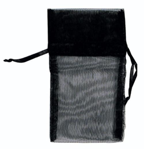 Organza Pouch : 3x4 : Black