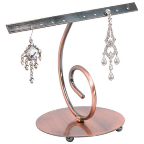 Earring Display : Swirling Copper
