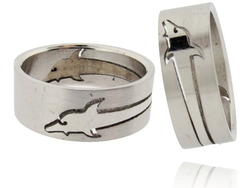 Wholesale Stainless Steel Dolphin Ring