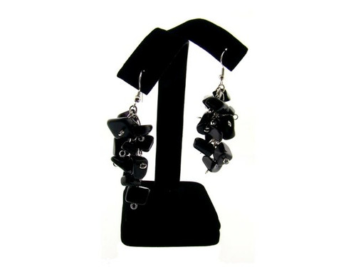 Genuine Semi-Precious Stone Earring : Black Onyx