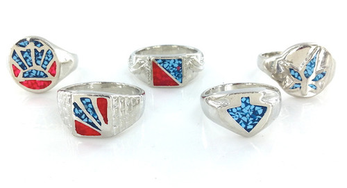 Assorted Mens Wholesale Turquoise Rings