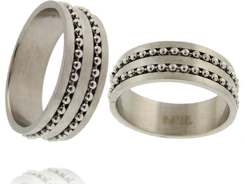 Stainless Steel Ball Chain Ring
