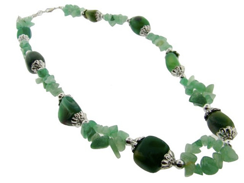 Genuine Semi-Precious Stone Necklace : Jade Wholesale