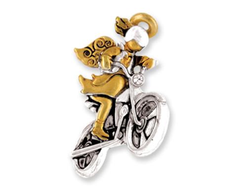 Motorcycle Angel Pin
