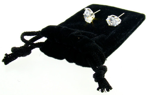 CZ Stud Earrings Wholesale : Pear