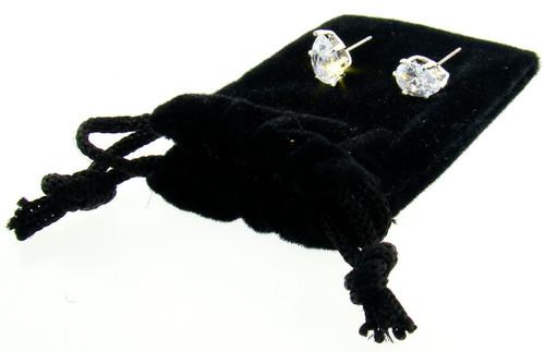 CZ Stud Earrings Wholesale : Pear