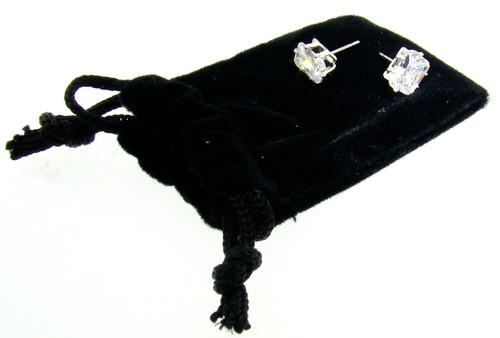 CZ Stud Earrings Wholesale : Rectangle