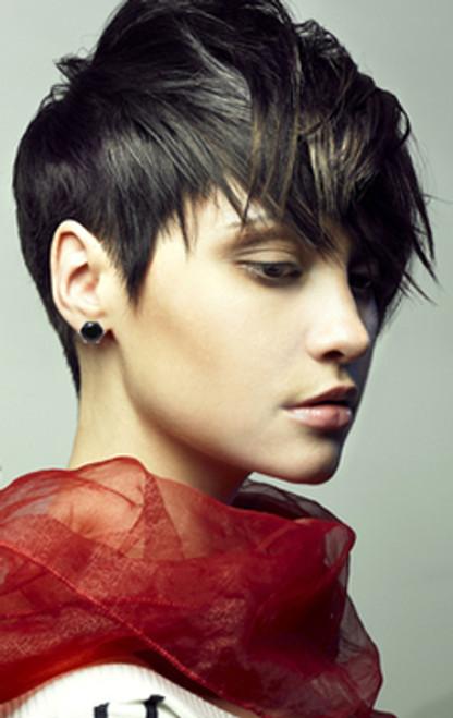 CZ Stud Earrings : Black Diamond : 8CTW