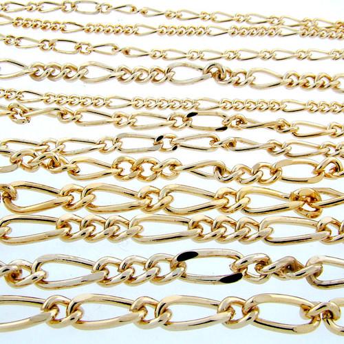"""Wholesale 30"""" Figaro Chain Priced Per Dozen"""