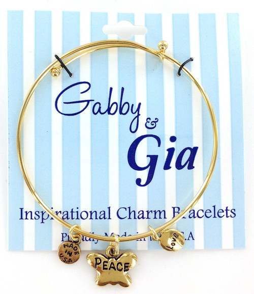 Gabby & Gia Bracelets - Peace