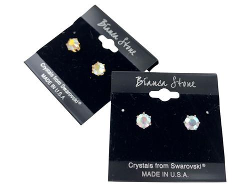 Swarovski Crystal Elements Stud Earrings : Crystal AB
