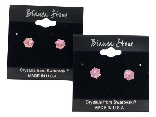Swarovski Crystal Elements Stud Earrings : Rose