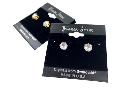 Swarovski Crystal Elements Stud Earrings : Diamond