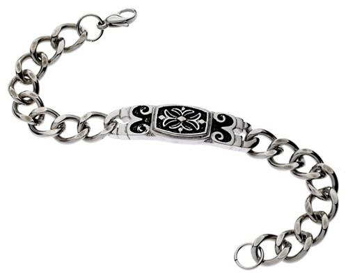 Stainless Steel Maltese Cross Bracelet