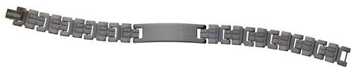 Stainless Steel Bracelet : Greek Key Cross