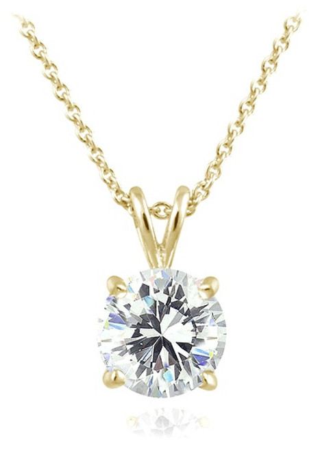 Cubic Zirconia Solitaire Necklace Wholesale