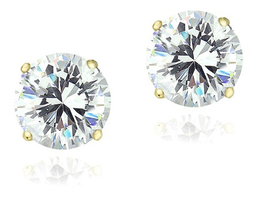 Cubic Zirconia Solitaire Earrings