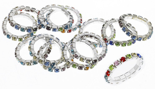 Austrian Crystal Stretch Ring : 1 Row