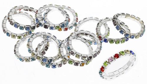 Austrian Crystal Stretch Ring : 1 Row