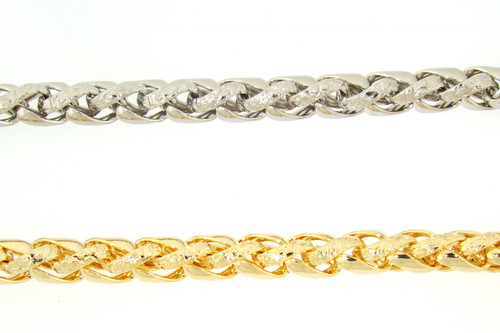 Braided Rope Plated Chain Necklace Wholesale